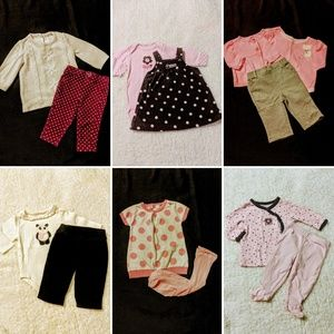 Baby Girls 0/3 Months Mixed Winter Clothing